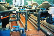 Фильтр пластиковый (ПВХ),  DN40,  PN16,  химически стойкий (с пластиковой