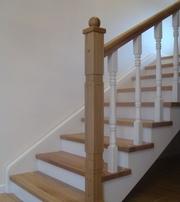 Лестницы. Монтаж. Обшивка деревом бетонных и металлических каркасов